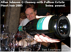 Palliser winemaker Allan Johnson at Clooney